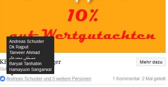 Ausländische Likes trotz Deutscher Zielgruppe